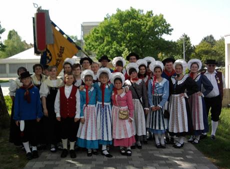Teilnehmner des SVT beim 3. Kinder- und Jugendtrachtenfest 2010 in Müllheim / BW